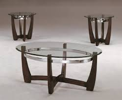 3 piece modern wood and glass coffee table set with tables luxu