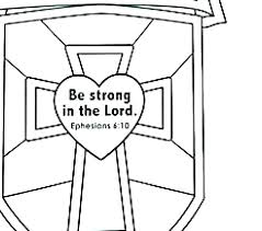Shield Coloring Page Pages Pics Faith Ctr