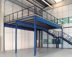 office mezzanine floor. Blue Mezzanine Floor Made Of Stainless Steel Office S