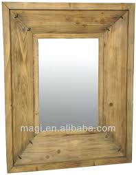 wood wall mirrors. Wall Mirrors Wood Mirror With Shelf Rectangular Framed Antique Wooden Frames .