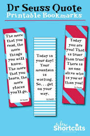 Dr Seuss Quotes Mesmerizing Dr Seuss Printable Bookmarks With Quotes A Few Shortcuts