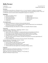 Assistant Education Director Resume Examples Created By Pros