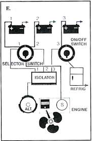 boat battery wiring diagrams one battery selector switch one on off selector switch one isolator two alternators three batteries f installation