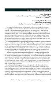 newman mirela book review the american college town ne geographer newman mirela book review the american college town ne geographer