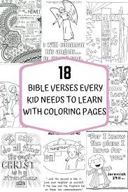 The most common kid colouring sheet material is paper. 18 Bible Verses Every Kid Needs To Learn With Coloring Pages Managers Of The Home