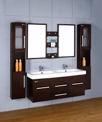 Full Size of Bathroom Cabinets:modern Wall Mounted Bathroom Cabinet Vanity  Grey Finish Wooden Double ...