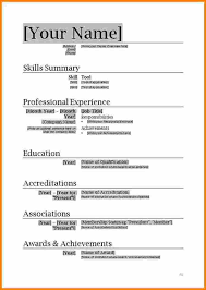 Word 2010 Resume Template 7 Microsoft Word 2010 Resume Template