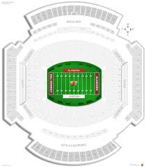 Reliant Seating Chart Football 57 Memorable Bama Stadium Seating Chart
