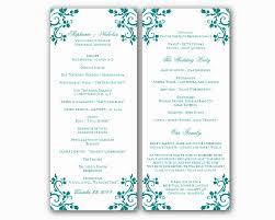 Event Programs 036 Printable Event Program Template Lovely Free Wedding