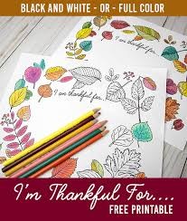 With piktochart's free library of high quality graphics, designs components, and templates, the visual inspiration you are looking for is there where. I Am Thankful For Free Printable Coloring Sheet Or Fully Colored Poster Clumsy Crafter