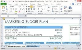 conference budget spreadsheet free meeting event budget template for excel 2013