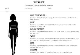 Vero Moda Size Chart Vero Moda Size Guide Portfashion Com