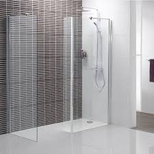 Perfect Simple Stall Shower Without Door With Shower Glass Panel Design At  Modern Bathroom Image Part