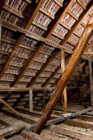 old attic of a house hdr photo with multiple light sources stock photo 5369722