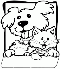 Small Picture Free Coloring Pages Dog And Kat Kids Coloring