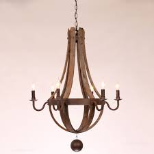 reclaimed wood rust metal chandelier with candle light zoom