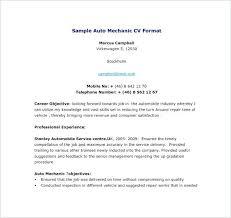 Auto Mechanic Sample Resume Auto Mechanic Resume Template Auto