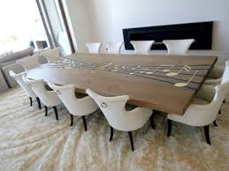 wooden dining furniture. Custom Opus Harker Dining Table With Epoxy Inlays And Brass Note Wooden Furniture