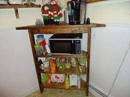 Kitchen Corner Shelves Custom Rustic Kitchen Corner Shelf And Microwave Stand By Coopers