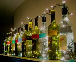 How To Decorate Empty Liquor Bottles Wine Bottle Lights Bottle lights Empty bottles and Empty 31