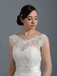 V Neck Re Embroidered Lace Bolero Wedding Jacket Bridal Bolero