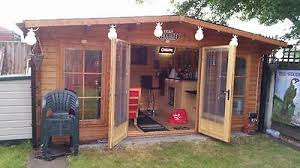 summer house office. Simple Office 11 Of 12 Garden Log Cabin Man Cave Home Office Summer House Extension   45mm Thick Walls For R