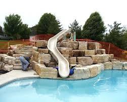 in ground pools with slides. Pool Slide Inground Swimming Pools With Slides Parts In Ground I