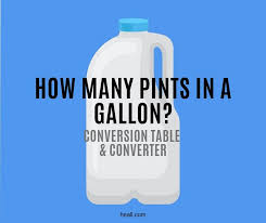 How Many Pints In A Gallon Conversion Table Converter