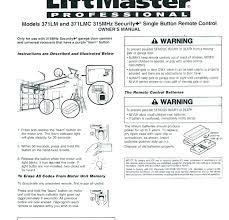 liftmaster garage door opener manual reprogramming garage door opener garage door opener manual garage door opener