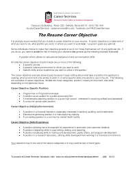 Resume Career Objective Templates At Allbusinesstemplates