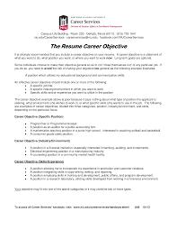 Career Objective Cv Resume Career Objective Templates At Allbusinesstemplates