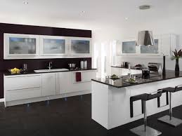 modern kitchen black and white. Modern Minimalist Kitchen With Island Bar And Stylish White Black Cabinet