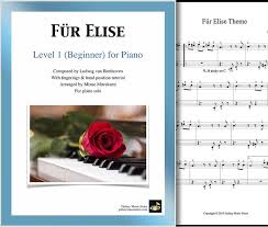 We explain so that you can understand easily. Fur Elise Beginner Piano Sheet Music Galaxy Music Notes