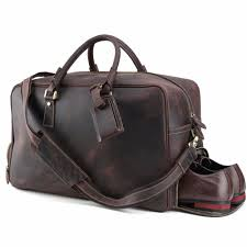 luxury vintage cow leather mens travel duffle large european and american style luggage bags brown travel bag shoulder bag tote carry bags toiletry bags