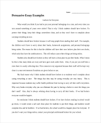 literary essay samples persuasive essay example