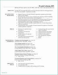 Nursing Resume Template Free Best Of Experienced Nurse Resume