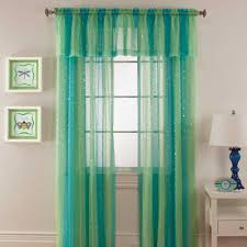 Lime Green Bedroom Curtains Mermaid Rod Pocket Window Curtain Panel Kids Room Pinterest