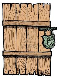 Doorway clipart broken door - Pencil and in color doorway clipart ...