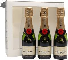 in the photo image moet chandon brut imperial gift set of 3 bottles