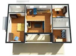 Small Picture 4 Bedroom House Plans 2 Story 3d modern style house plan 3 beds