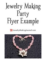 Jewelry Flyer Jewelry Making Party Flyer Jewelry Making Journal