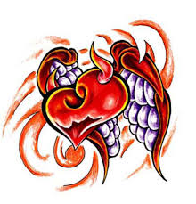 Awesome Heart Designs Awesome Devil Heart Tattoo Design