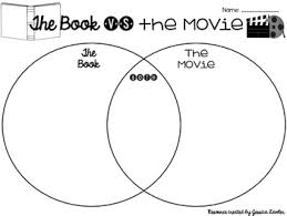 Book Vs Movie Venn Diagram Free The Book Vs The Movie Graphic Organizers
