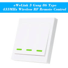 Rf Light Switch Remote Us 3 12 11 Off Ewelink Push Button Wall Light Switch Remote Controller 3 Gang 86 Type Panel Switch Smart Home 433mhz Wireless Rf Remote Control In