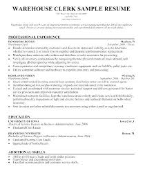 Sample Resume For Shipping And Receiving Clerk