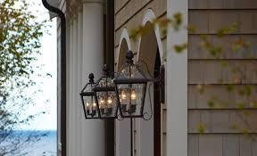 exterior lantern lighting. side view of wall mounted london lanterns lighting the entrance to garage shingle exterior lantern a