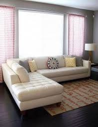 cream leather sectional simple fresh and kid friendly cream sectional28