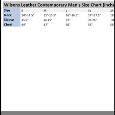 Wilsons Leather Size Chart Wilsons Leather Pelle Studio Leather Coat Parka L