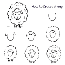 How To Draw A Sheep In 7 Easy Steps Mouton