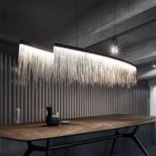 modern dining room chandelier lighting tassel aluminum chain pendant light